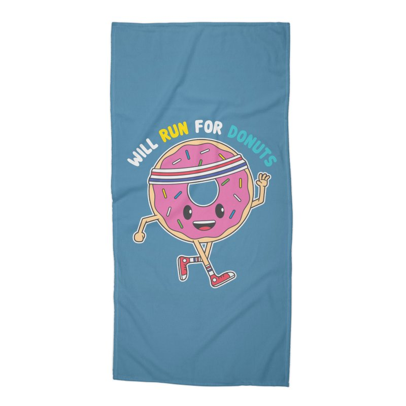 Will Run For Donuts Accessories Beach Towel by Wasabi Snake