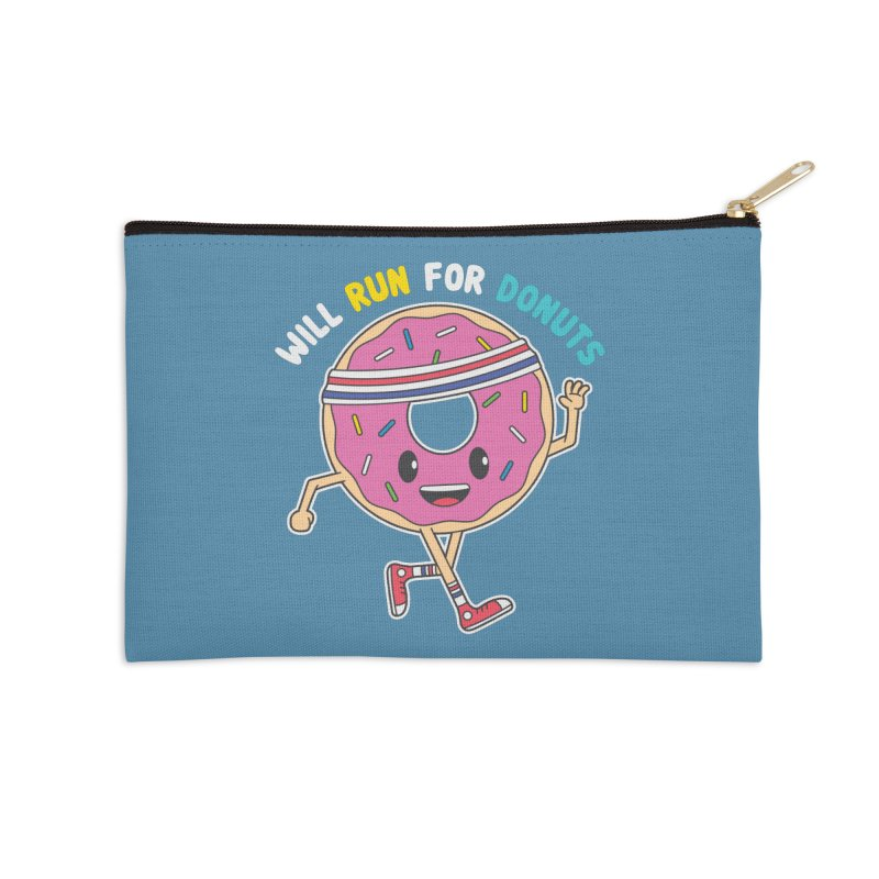Will Run For Donuts Accessories Zip Pouch by Wasabi Snake