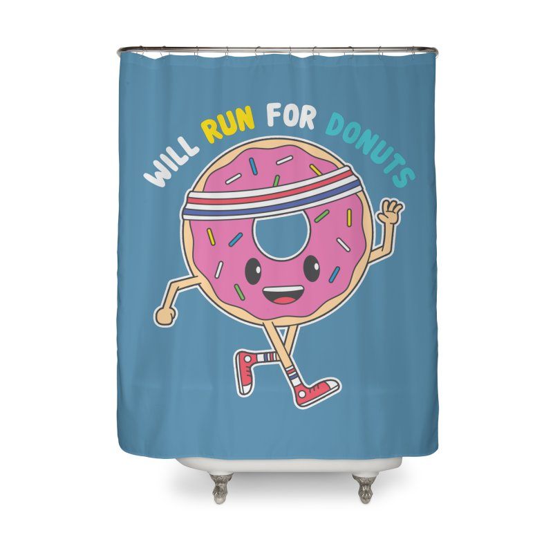 Will Run For Donuts Home Shower Curtain by Wasabi Snake