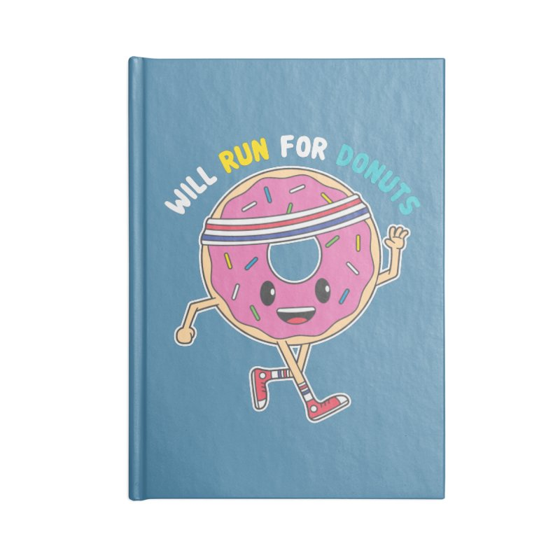 Will Run For Donuts Accessories Lined Journal Notebook by Wasabi Snake