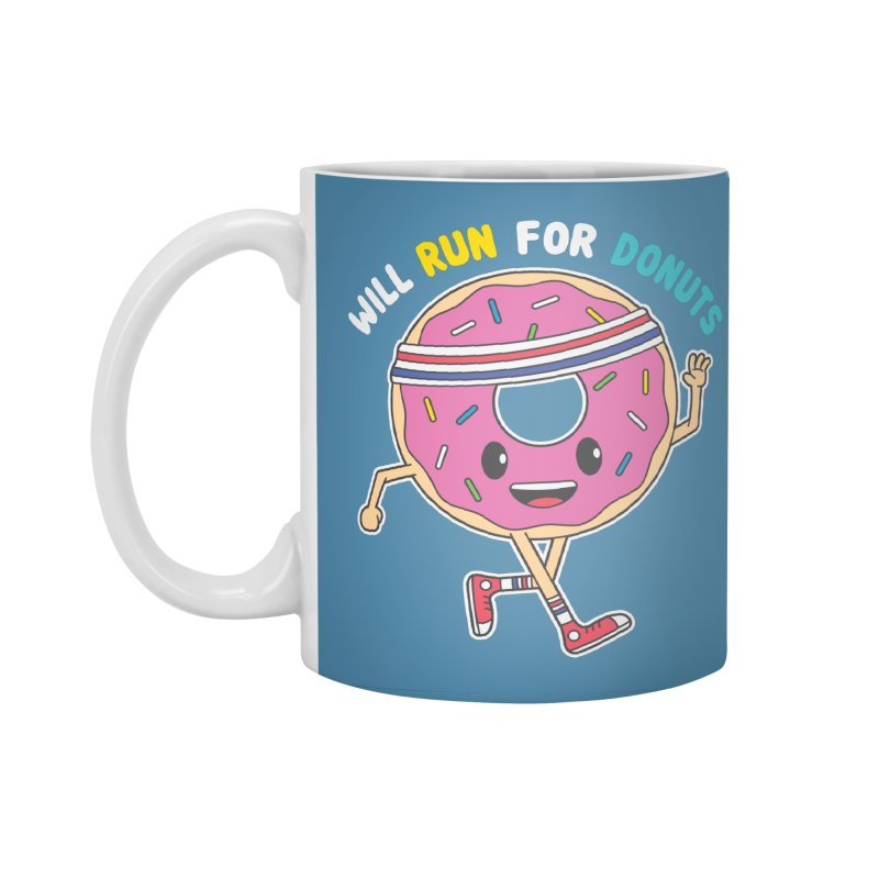 Will Run For Donuts Accessories Standard Mug by Wasabi Snake