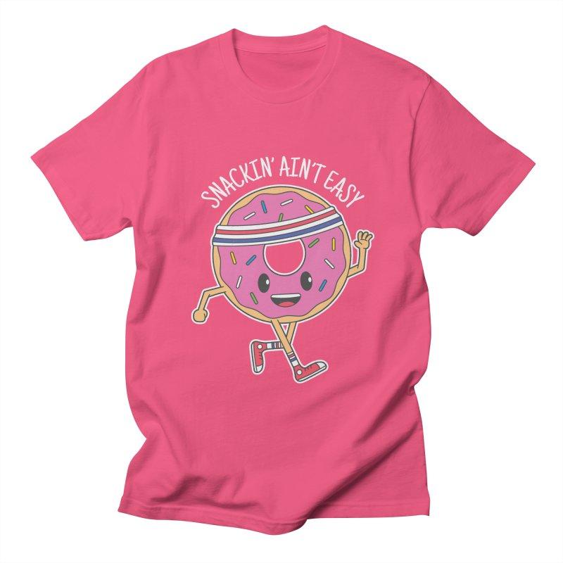 Snackin' Ain't Easy Men's Regular T-Shirt by Wasabi Snake