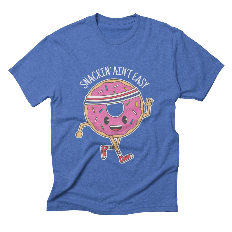 Snackin' Ain't Easy Men's Triblend T-Shirt by Wasabi Snake