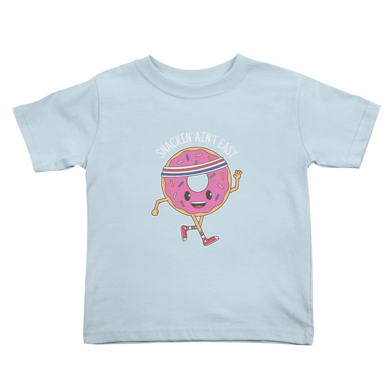 Snackin' Ain't Easy Kids Toddler T-Shirt by Wasabi Snake