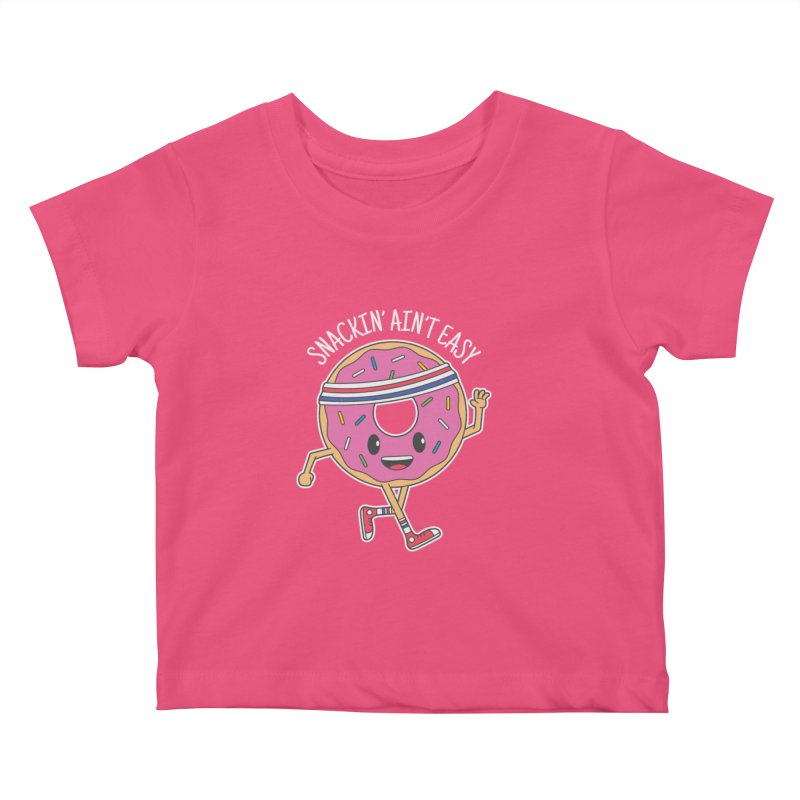 Snackin' Ain't Easy Kids Baby T-Shirt by Wasabi Snake