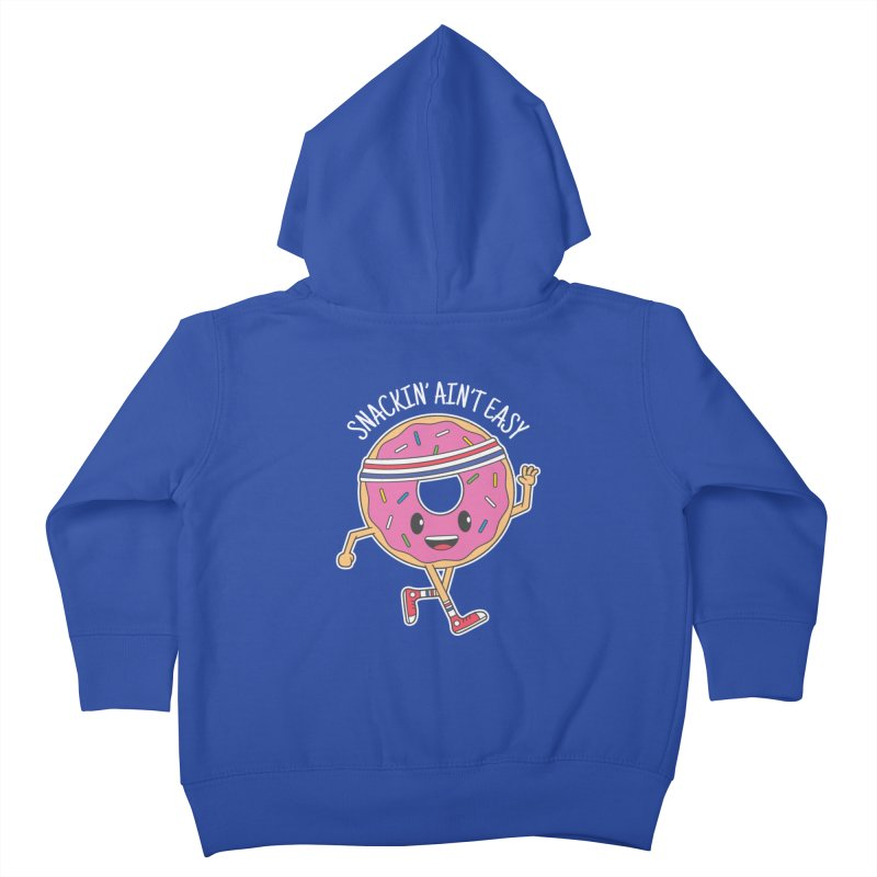 Snackin' Ain't Easy Kids Toddler Zip-Up Hoody by Wasabi Snake
