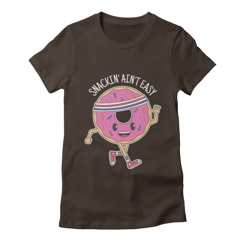 Snackin' Ain't Easy Women's Fitted T-Shirt by Wasabi Snake