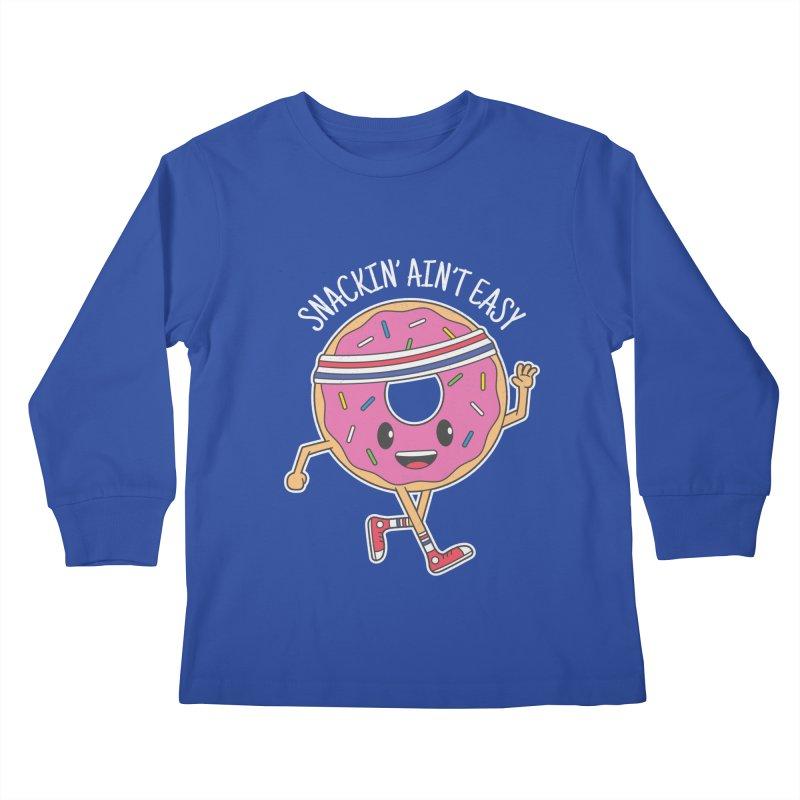 Snackin' Ain't Easy Kids Longsleeve T-Shirt by Wasabi Snake