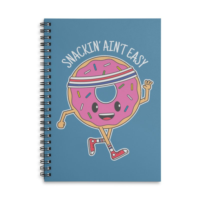 Snackin' Ain't Easy Accessories Lined Spiral Notebook by Wasabi Snake