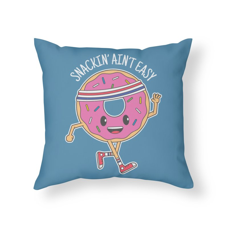 Snackin' Ain't Easy Home Throw Pillow by Wasabi Snake