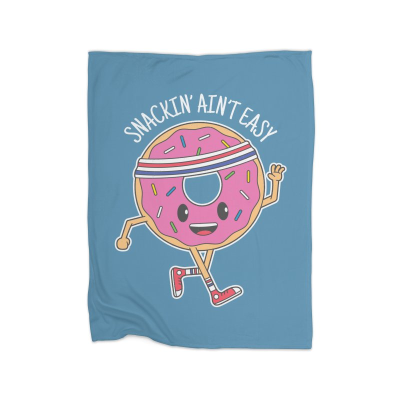 Snackin' Ain't Easy Home Blanket by Wasabi Snake