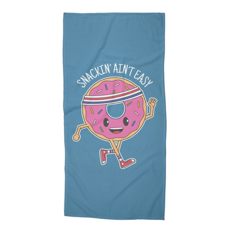 Snackin' Ain't Easy Accessories Beach Towel by Pete Styles' Artist Shop