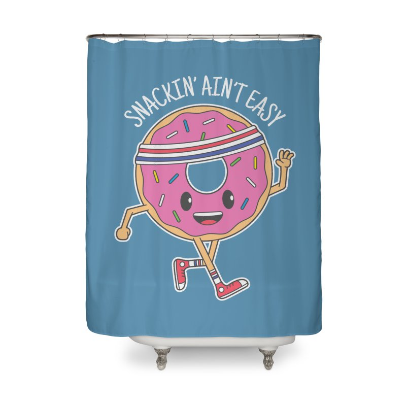 Snackin' Ain't Easy Home Shower Curtain by Wasabi Snake