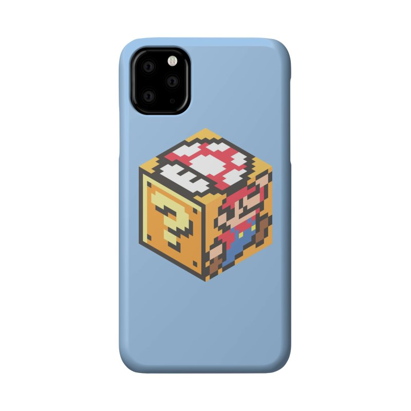 Isometric Mario Cube Accessories Phone Case by Wasabi Snake