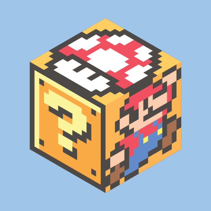 Isometric Mario Cube None  by Pete Styles' Artist Shop