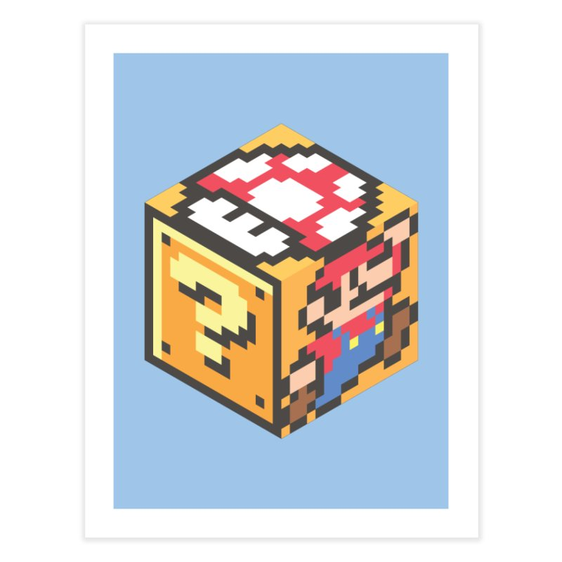 Isometric Mario Cube Home Fine Art Print by Wasabi Snake