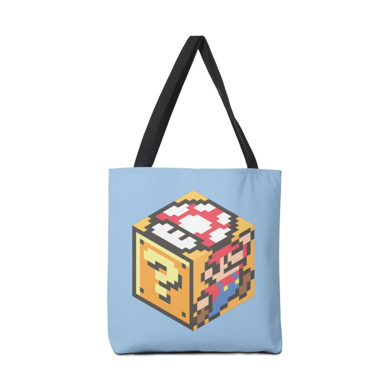 Isometric Mario Cube Accessories Tote Bag Bag by Wasabi Snake