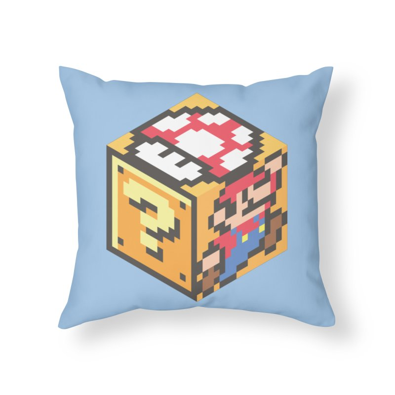 Isometric Mario Cube Home Throw Pillow by Pete Styles' Artist Shop