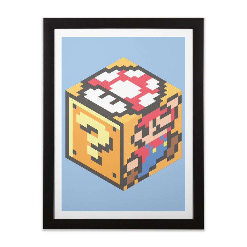 Isometric Mario Cube Home Framed Fine Art Print by Wasabi Snake