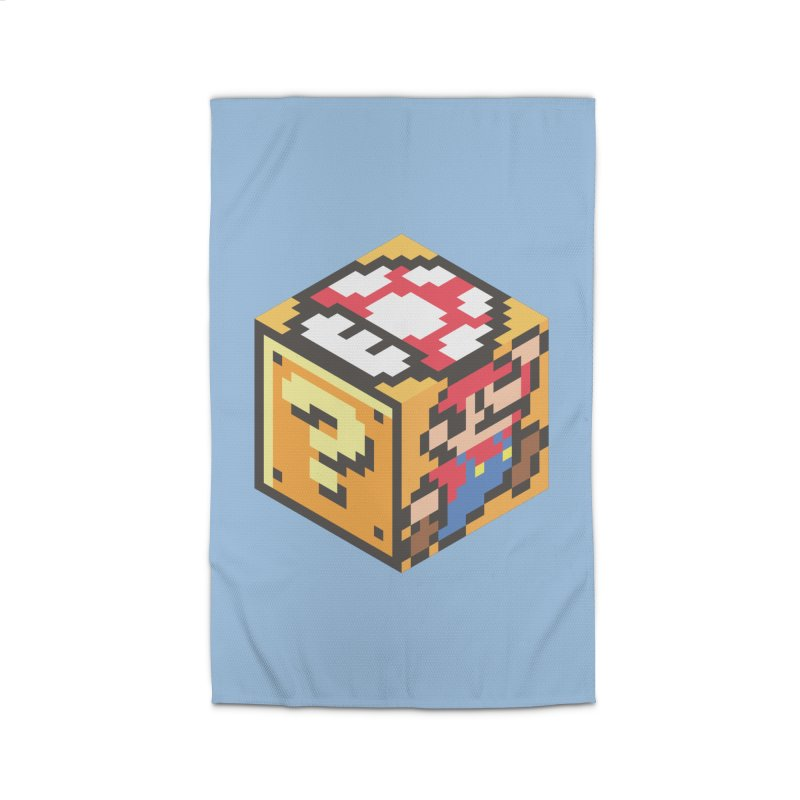 Isometric Mario Cube Home Rug by Wasabi Snake