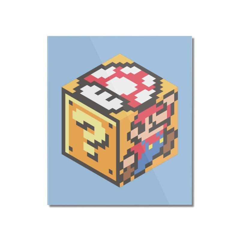 Isometric Mario Cube Home Mounted Acrylic Print by Pete Styles' Artist Shop