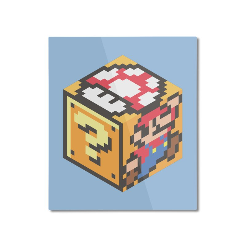 Isometric Mario Cube Home Mounted Aluminum Print by Pete Styles' Artist Shop