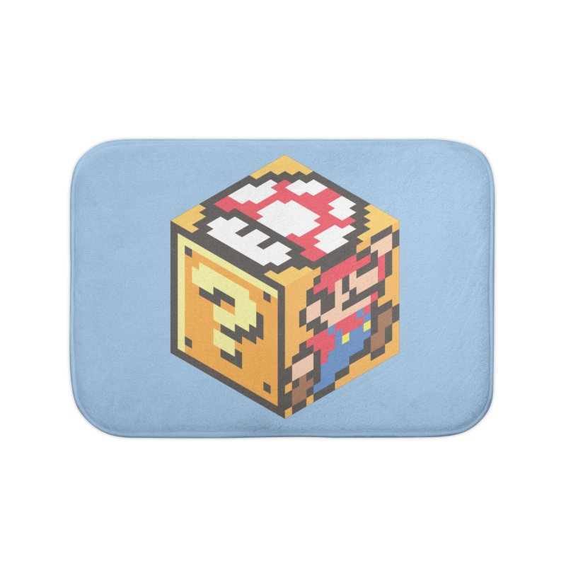 Isometric Mario Cube Home Bath Mat by Wasabi Snake