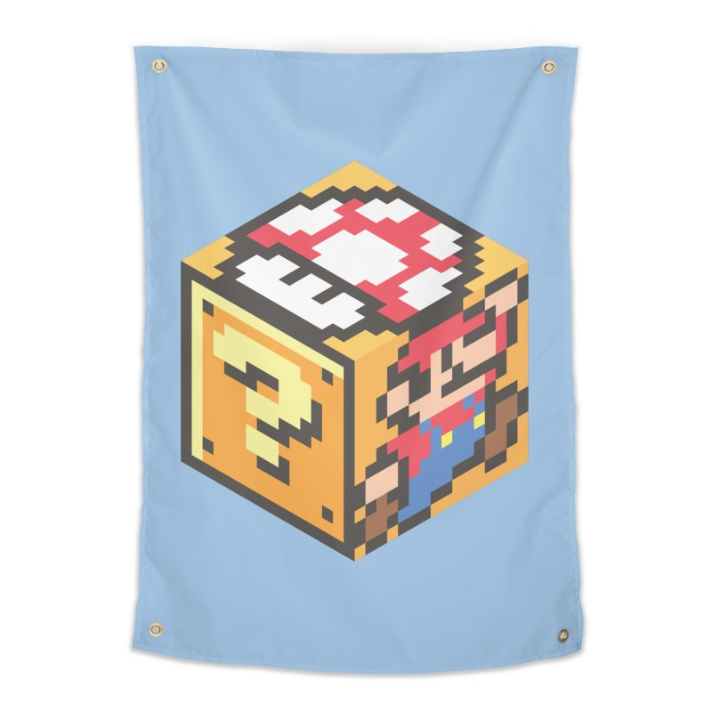 Isometric Mario Cube Home Tapestry by Wasabi Snake