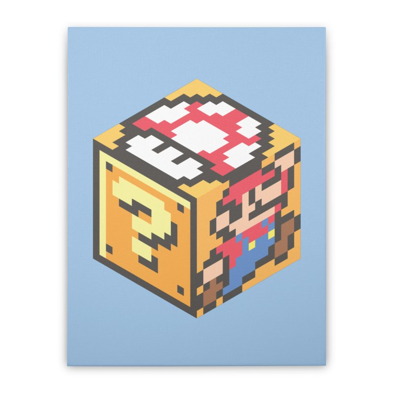 Isometric Mario Cube Home Stretched Canvas by Pete Styles' Artist Shop