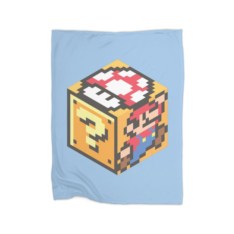 Isometric Mario Cube Home Blanket by Pete Styles' Artist Shop