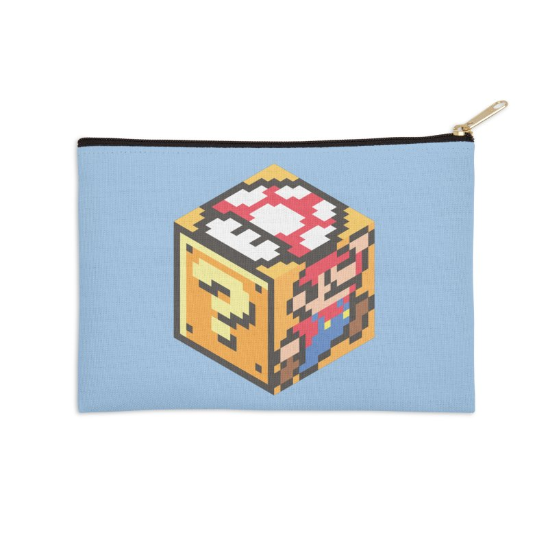 Isometric Mario Cube Accessories Zip Pouch by Wasabi Snake