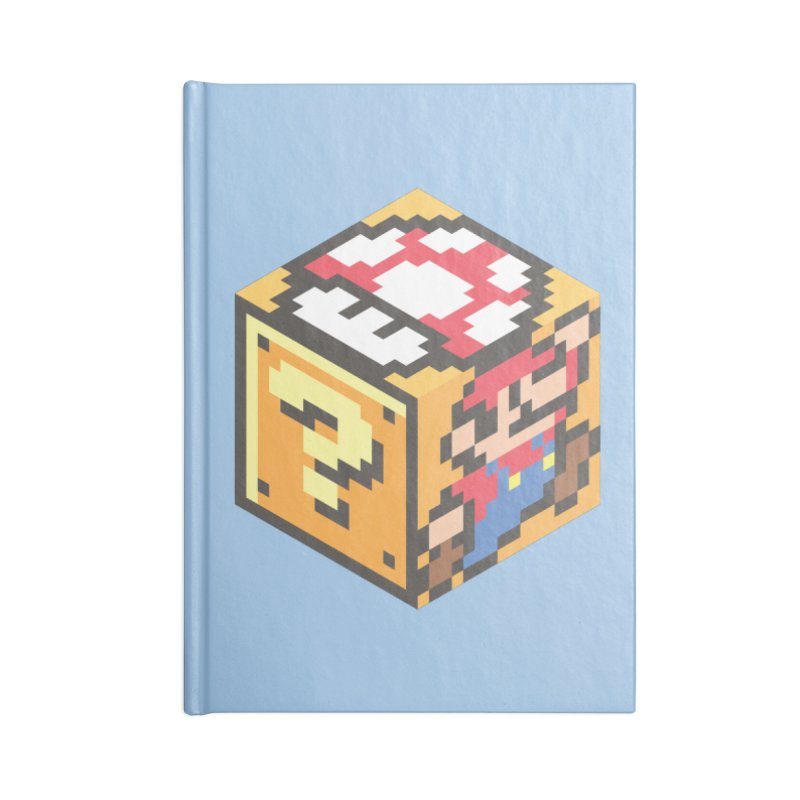 Isometric Mario Cube Accessories Blank Journal Notebook by Wasabi Snake