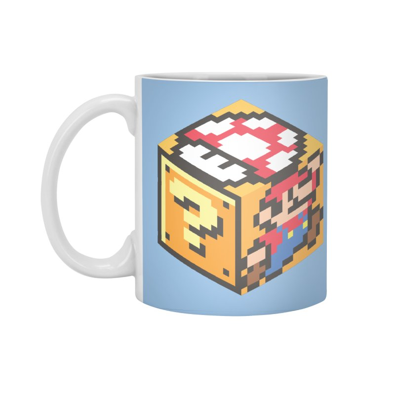 Isometric Mario Cube Accessories Standard Mug by Wasabi Snake