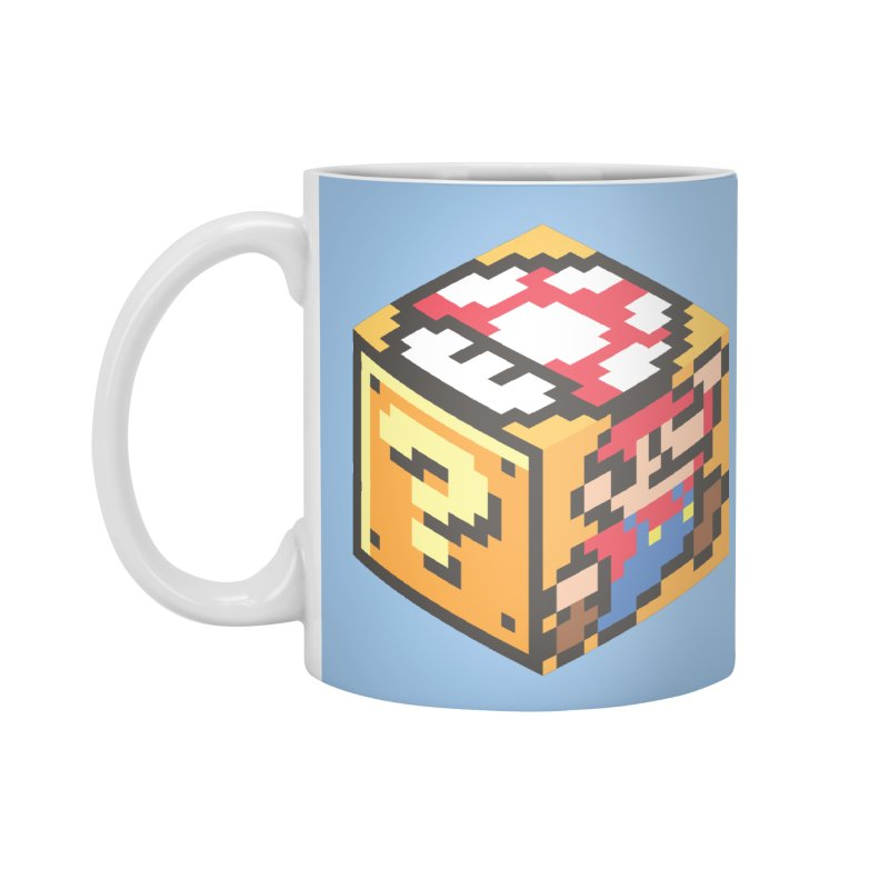 Isometric Mario Cube Accessories Mug by Wasabi Snake