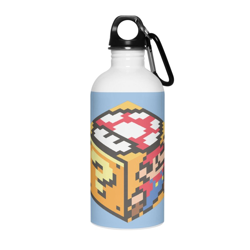 Isometric Mario Cube Accessories Water Bottle by Wasabi Snake