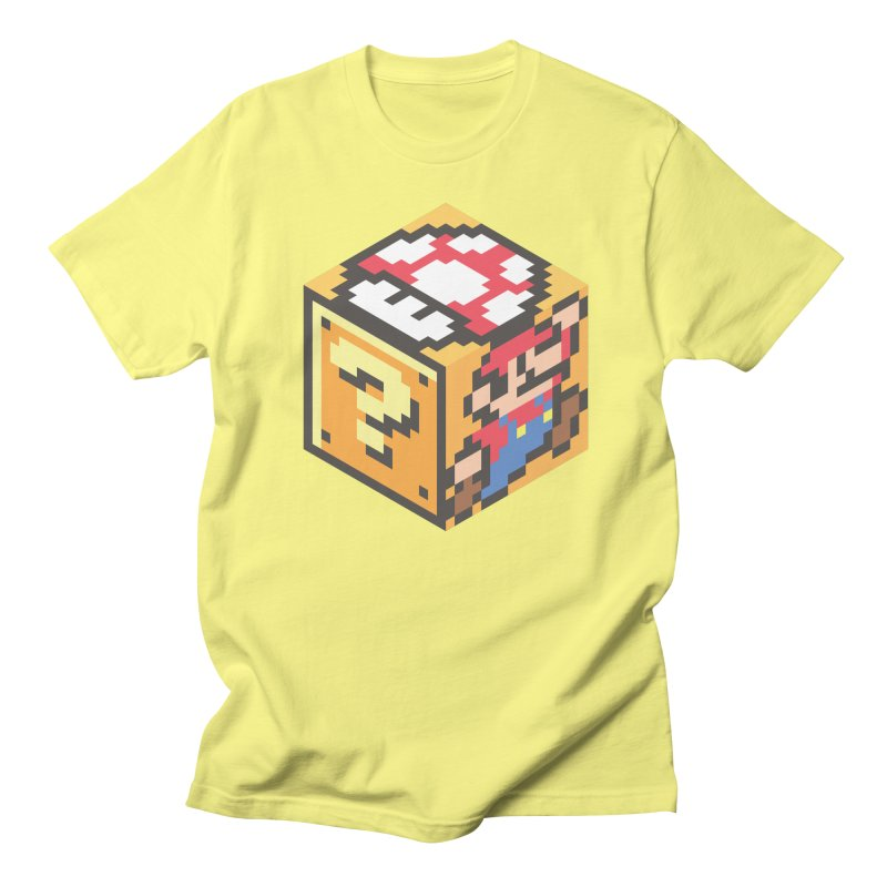 Isometric Mario Cube Men's T-Shirt by Wasabi Snake