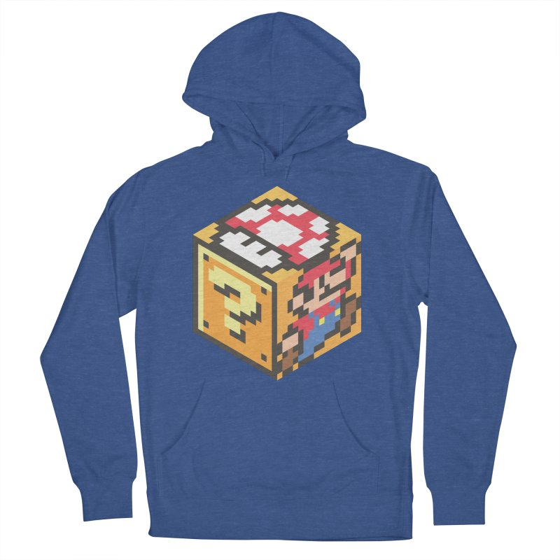 Isometric Mario Cube Women's French Terry Pullover Hoody by Wasabi Snake