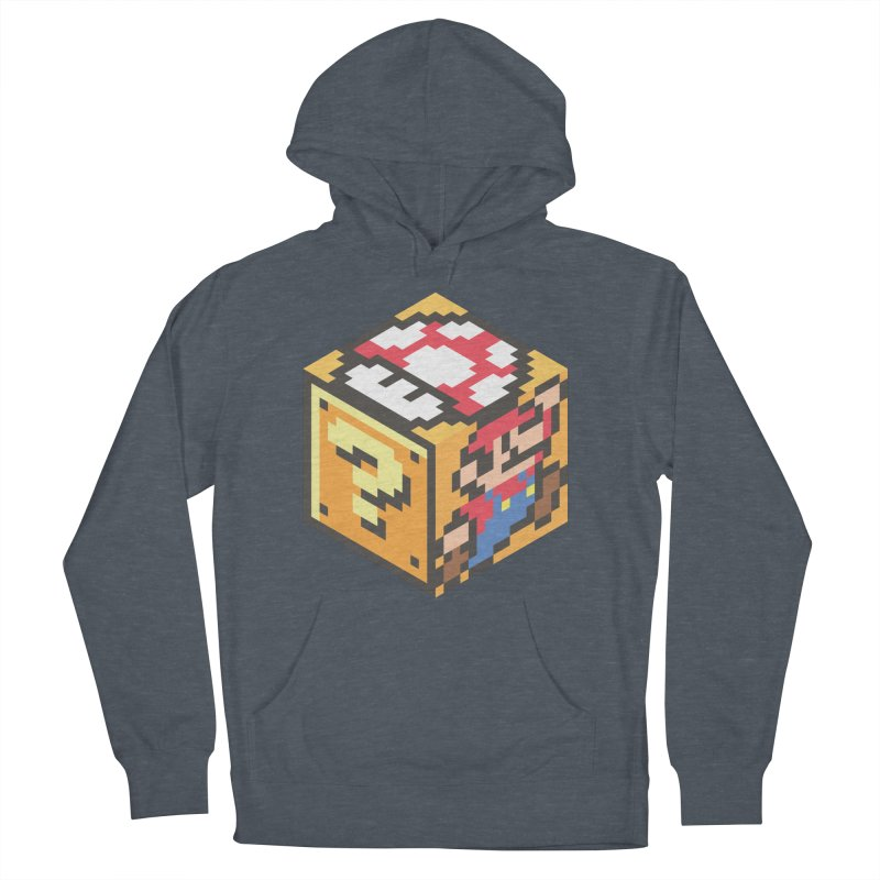 Isometric Mario Cube Men's French Terry Pullover Hoody by Wasabi Snake