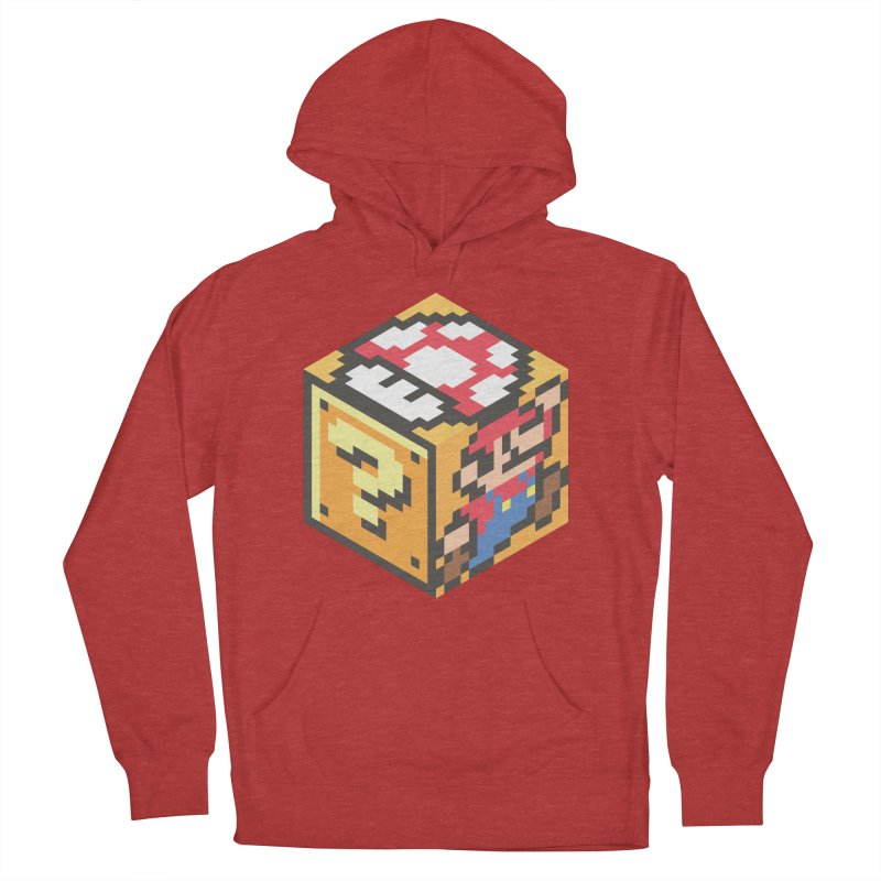 Isometric Mario Cube Men's Pullover Hoody by Pete Styles' Artist Shop
