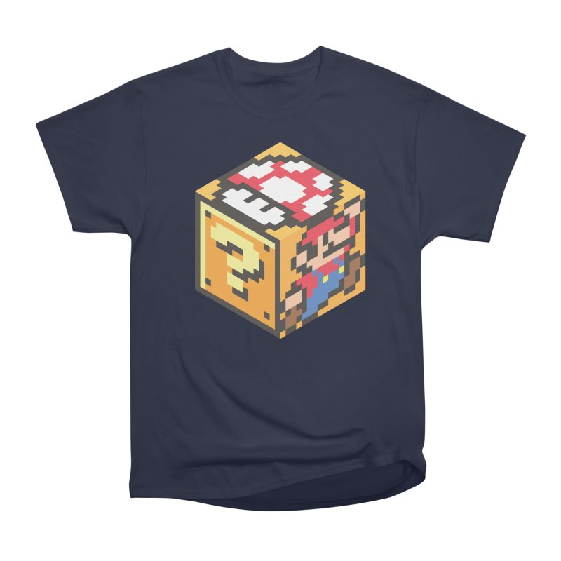 Isometric Mario Cube Women's Heavyweight Unisex T-Shirt by Pete Styles' Artist Shop