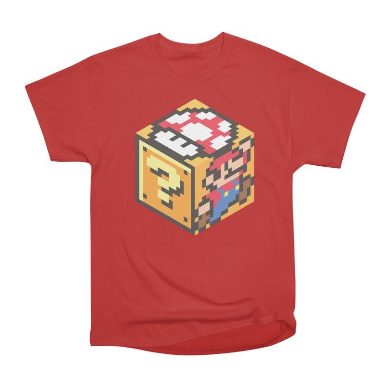 Isometric Mario Cube Women's Heavyweight Unisex T-Shirt by Wasabi Snake