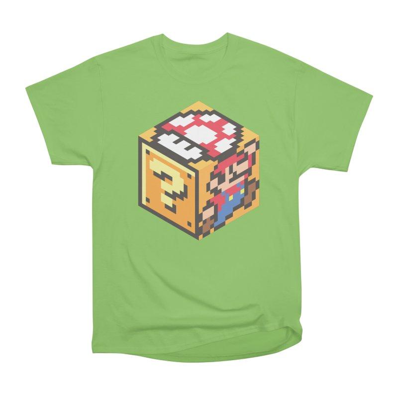 Isometric Mario Cube Men's Heavyweight T-Shirt by Wasabi Snake