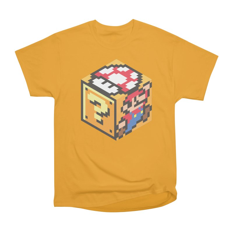 Isometric Mario Cube Men's Heavyweight T-Shirt by Wasabi Snake