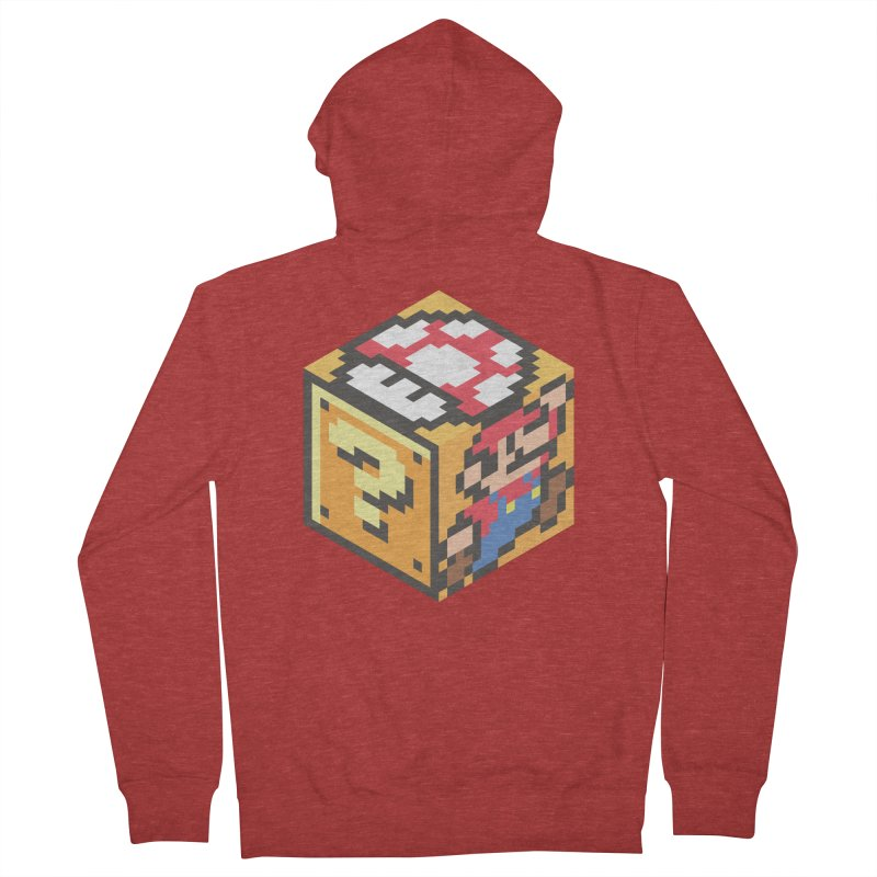 Isometric Mario Cube Women's Zip-Up Hoody by Pete Styles' Artist Shop