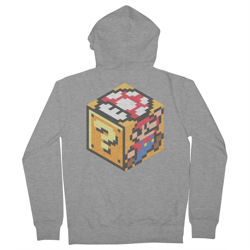 Isometric Mario Cube Men's Zip-Up Hoody by Pete Styles' Artist Shop