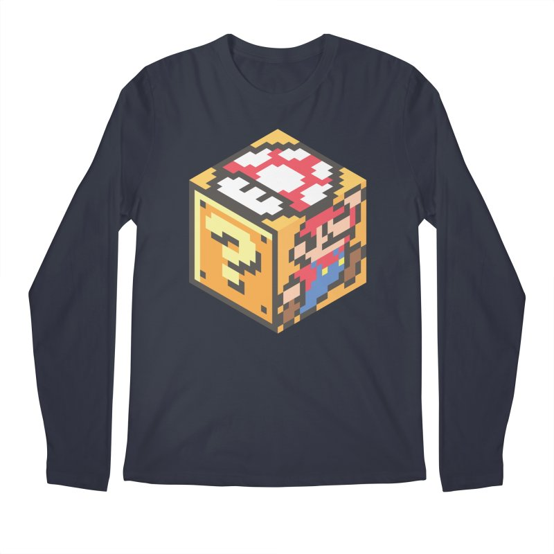Isometric Mario Cube Men's Longsleeve T-Shirt by Wasabi Snake