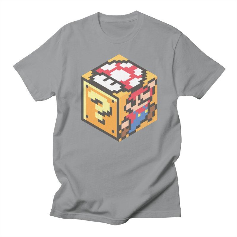 Isometric Mario Cube Men's Regular T-Shirt by Wasabi Snake