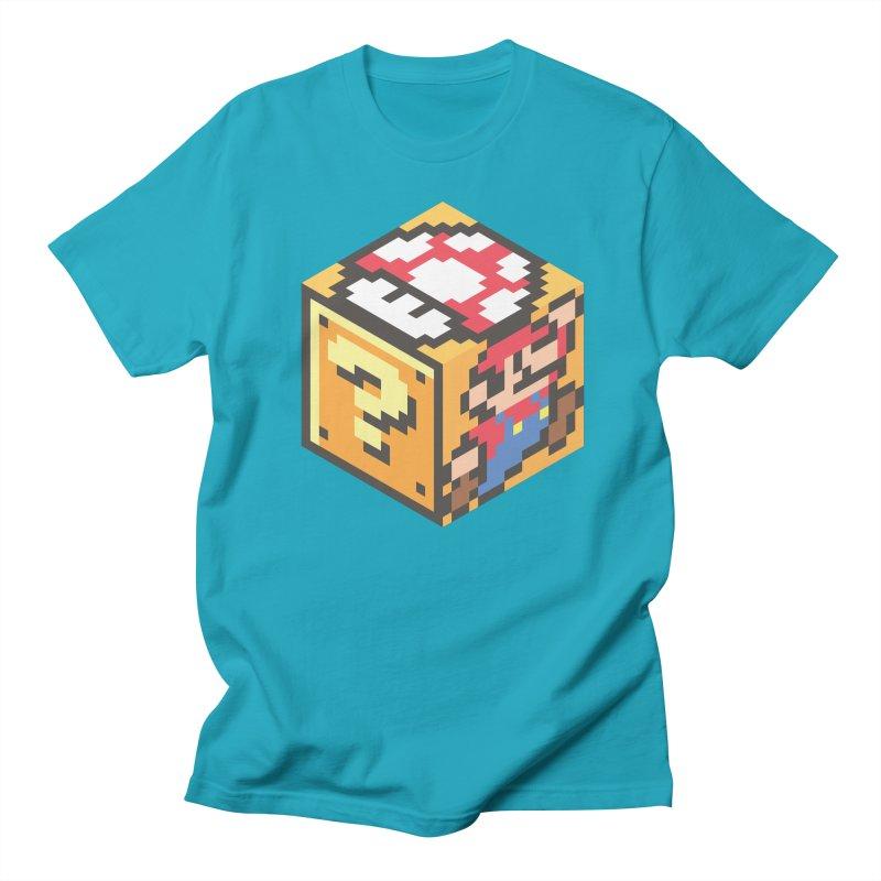 Isometric Mario Cube Men's T-Shirt by Pete Styles' Artist Shop