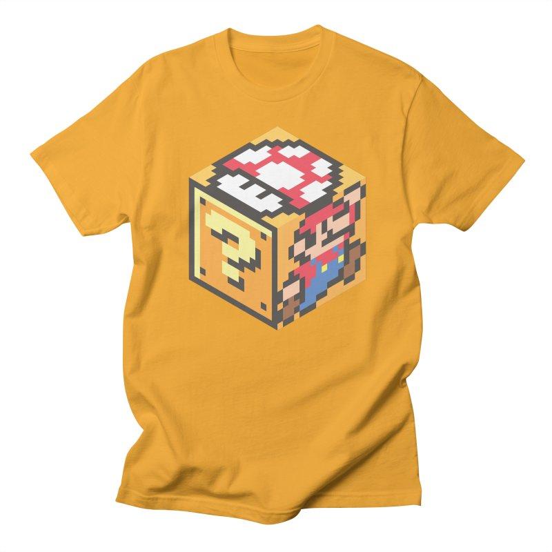 Isometric Mario Cube Women's Regular Unisex T-Shirt by Wasabi Snake