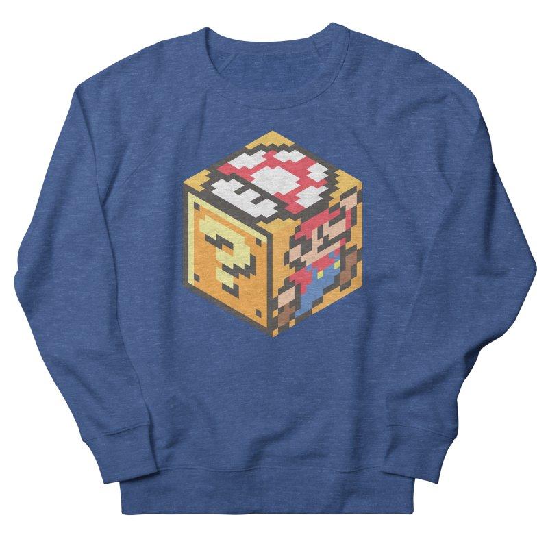 Isometric Mario Cube Women's French Terry Sweatshirt by Wasabi Snake